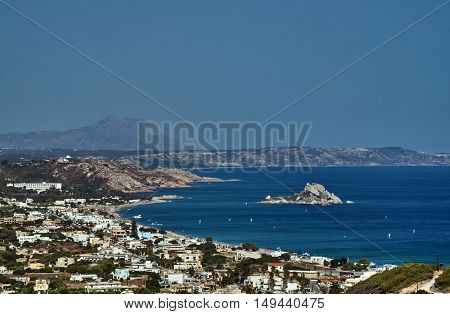 Bay and harbor on the Greek island of Kos