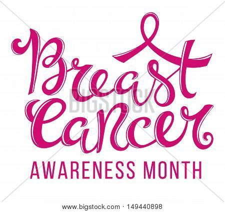Breast cancer awareness symbol, vector illustration, eps10