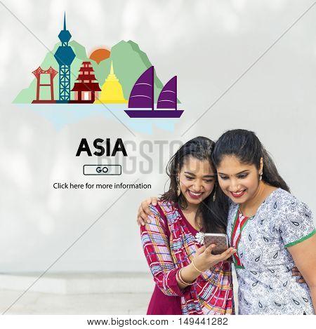 Asian Culture International Traveling Destination Concept