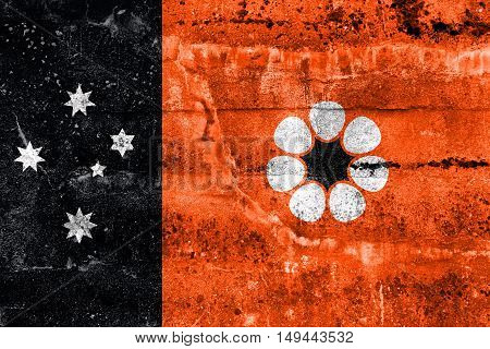 Flag Of Northern Territory, Australia, Painted On Dirty Wall