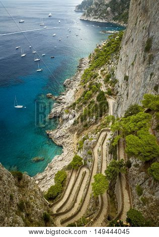 Via Krupp on Capri island in Italy