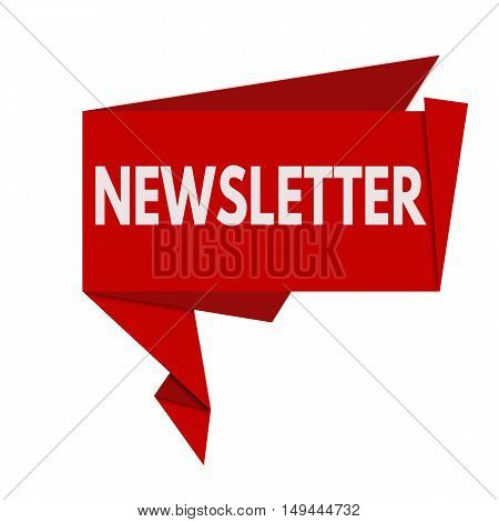 Newsletter Red Origami Speech Bubble