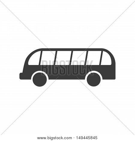 Bus icon. Bus Vector isolated on white background. Flat vector illustration in black. EPS 10