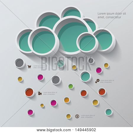 Cloud Computing concept - Client computers communicating