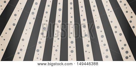 Crosswalk Illustration With Black Dots