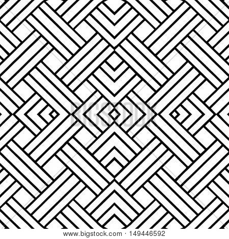Abstract black and white pattern - vector illustration