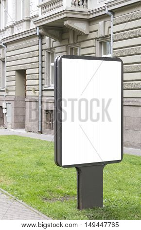 Mock up. Blank billboard with copy space for text message or content public information board in the city