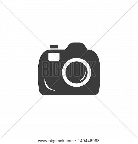 Camera icon. Camera Vector isolated on white background. Flat vector illustration in black. EPS 10