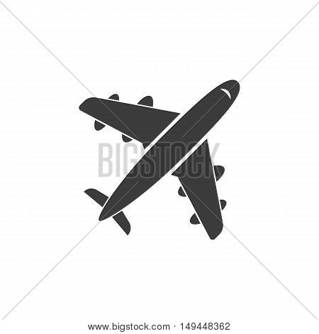 Aircraft icon. Aircraft Vector isolated on white background. Flat vector illustration in black. EPS 10