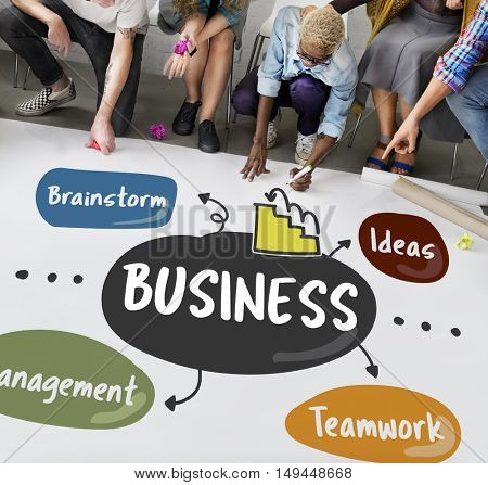 Business Brainstorm Management Ideas Company Concept