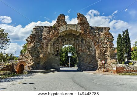 The South gate known as The Camels of ancient roman, fortifications in Diocletianopolis, town of Hisarya, Plovdiv Region, Bulgaria