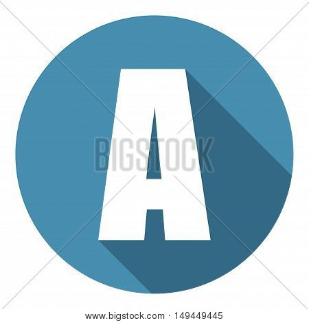 Letter A with a long shadow. Vector illustration EPS10