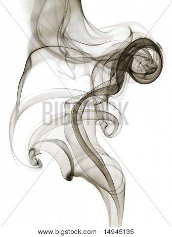 Black swirling smoke