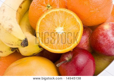 Colorful Fresh Fruits In A Bowl.