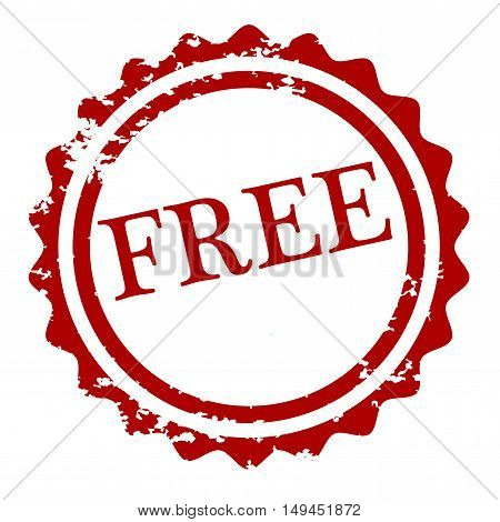 Grunge free stamp isolated on white background