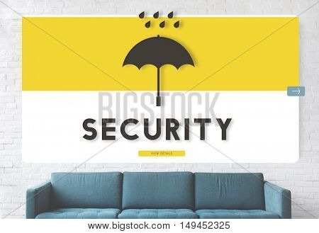 Business Couch Furniture Security Concept