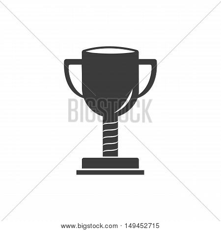 Trophy icon. Trophy Vector isolated on white background. Flat vector illustration in black. EPS 10