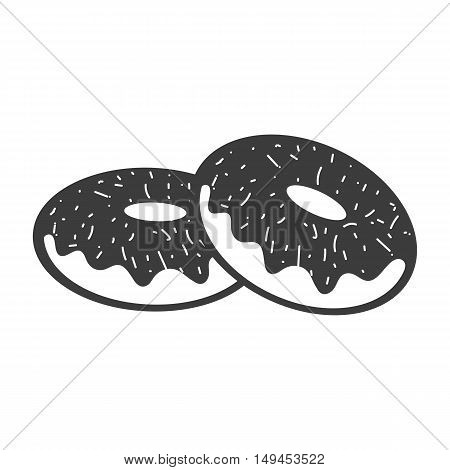 Donuts icon. Donuts Vector isolated on white background. Flat vector illustration in black. EPS 10