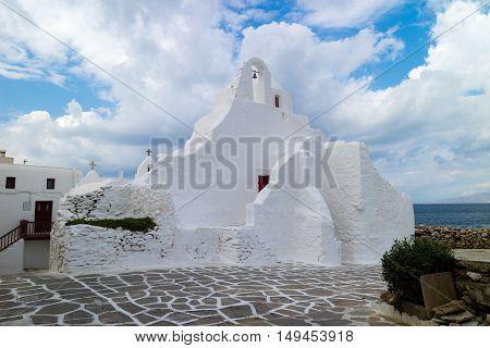 A typical local church in Mykonos (Greece)