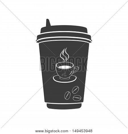 Coffee to go icon. Coffee to go Vector isolated on white background. Flat vector illustration in black. EPS 10