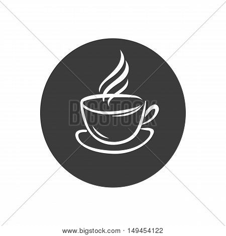Coffee cap icon. Coffee cap Vector isolated on white background. Flat vector illustration in black. EPS 10