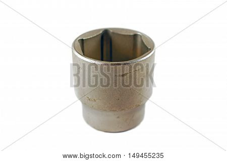 Used socket, isolated on a white background.