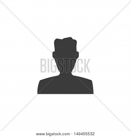Man icon. Man Vector isolated on white background. Flat vector illustration in black. EPS 10