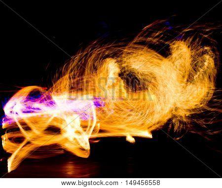 Burning Man Orange Flames