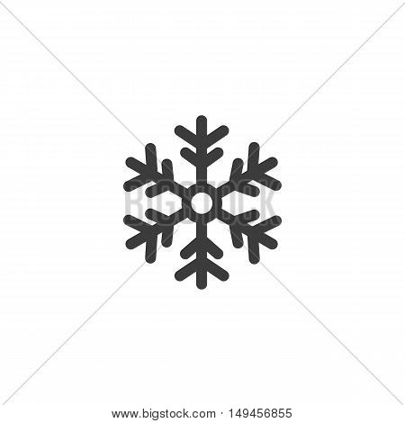 Snowflake icon. Snowflake Vector isolated on white background. Flat vector illustration in black. EPS 10