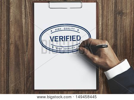 Verified Certified Affirm Authorized Approve Concept