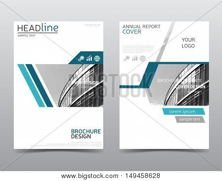 Vector annual report cover, brochure design. Leaflet layout. Presentation template in a4 size