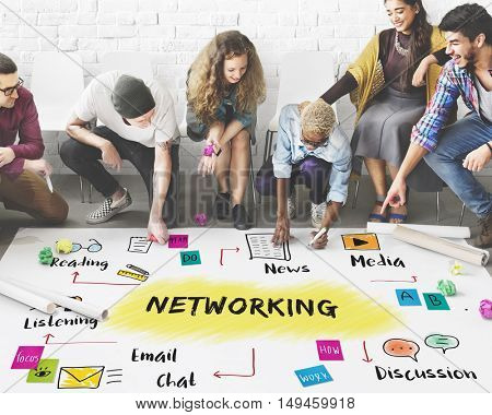 Networking Social Media Connecting Online Concept