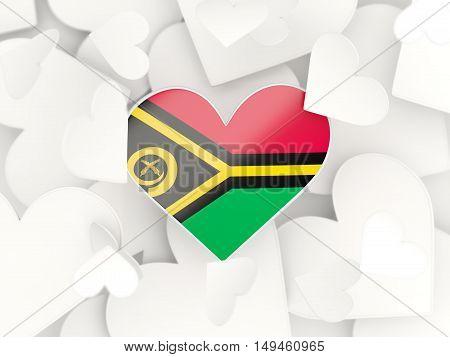 Flag Of Vanuatu, Heart Shaped Stickers