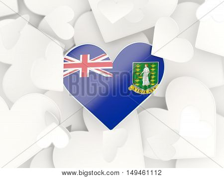 Flag Of Virgin Islands British, Heart Shaped Stickers