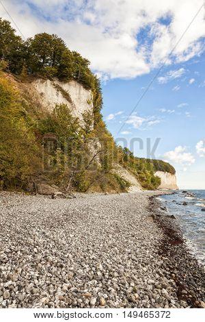 Chalk cliffs at Jasmund National Park, Ruegen, Germany