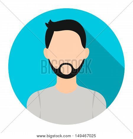 Man with beard icon cartoon. Single avatar, peaople icon from the big avatar collection.
