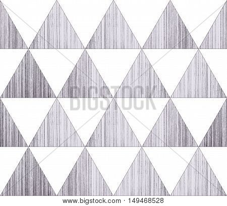 Black and white geometric sacral polygonal grunge textured art background