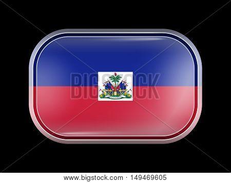 Flag Of Haiti. Rectangular Shape With Rounded Corners