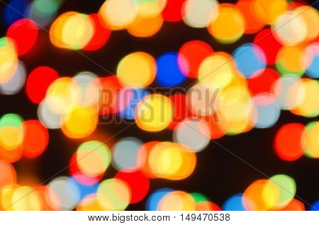 Background From Christmas Garlands
