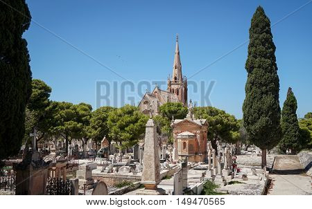 Panoramic view of Santa Maria Addolorata Chapel in Paola Malta