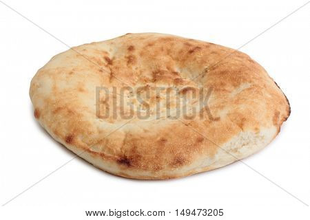Organic bread on white background