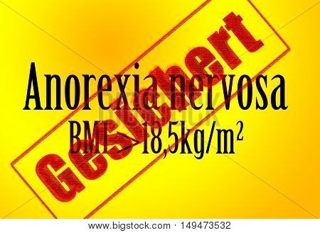 Illustration - anorexia nervosa - BMI - diagnostic criterion - Background