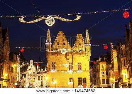 Aldermen's House in Mechelen. Mechelen Flemish Region Belgium