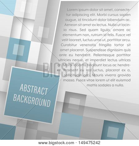 Abstract Vector Illustration With Square Geometric Pattern.