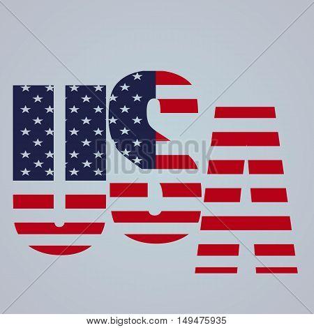 USA vector symbol illustration on grey background