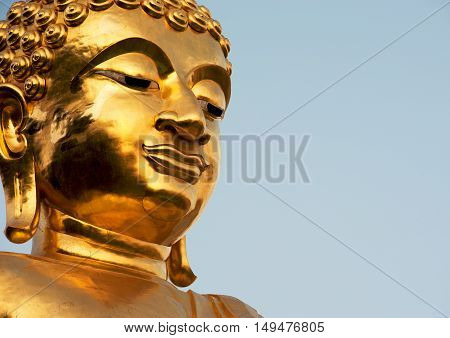 The head of the statue of the Golden Buddha