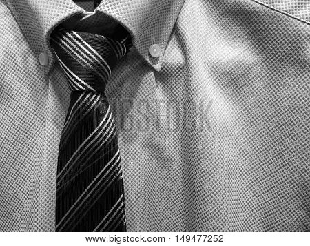 Black & white shirt & necktie use for background or business purpose