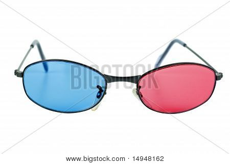 Pair Of Anaglyphic Blue-red