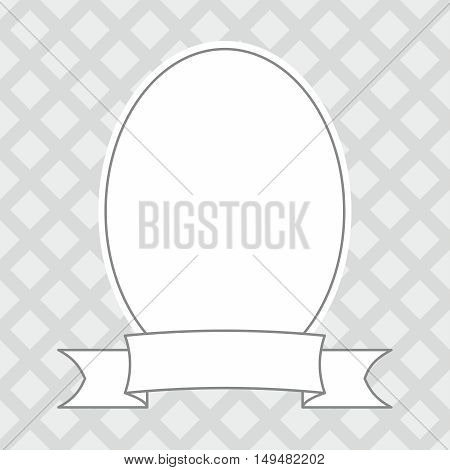 Photo decor vector frame on grey background