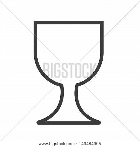 Wine Glass Icon. Wine Glass Vector Isolated On White Background. Flat Vector Illustration In Black.